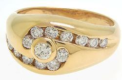 Beautiful Ladies 14kt Gold Diamond Ring