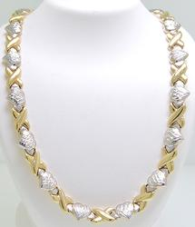 Ladies 2Tone Gold Necklace, 17in