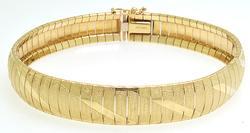 Laser Etched Ladies Bracelet, 14kt