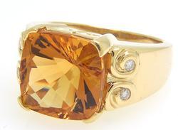 Artsy 5.6CT Topaz and Diamond Ring
