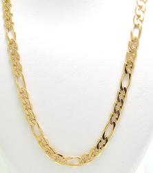 Long 18kt Figaro Necklace