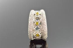 14K White Gold White Diamond Slide Pendant