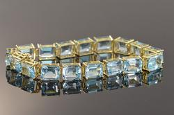 Blue topaz tennis bracelet