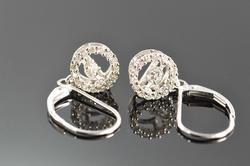 Drop Style Diamond Pair of Earrings