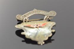 Sterling Silver Vintage Track & Field Award Pin