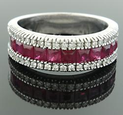 Ruby & Diamond Band at 1.58 CTW in 18K