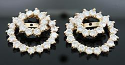 Diamond Swirl Earring Jackets at 2.0 CTW  in 18K
