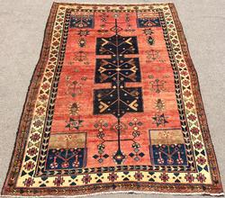 Captivating Colors, Darling Fine Hand Woven Vintage Rare Persian Rug