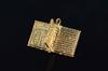 14K Gold Vintage 3D Hinged Holy Bible Charm