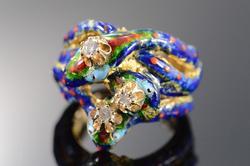 Vintage Victorian Style Diamond & Stones Snake Rings