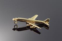 Vintage 3D Passenger Jet Charm