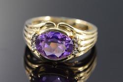 Vintage Diamond & Amethyst Ring