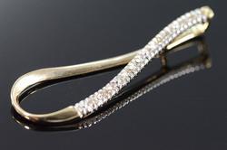 10K Gold Diamond Tear Drop Pendant