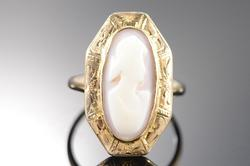 Yellow Gold Victorian Carved Cameo Ring