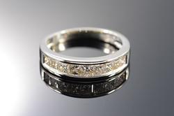14K Gold 1.50 Ctw Princess Cut Diamond Wedding Band Ring