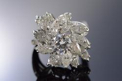 14K White Gold 6+ Ctw Diamond Statement Ring