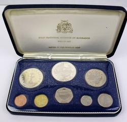 1st National Coinage of Barbados Proof Set w/COA