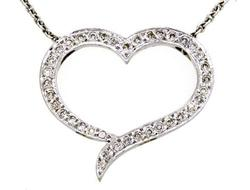 Beautiful 14kt Gold Heart Diamond Pendant