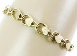 Vintage 14K Heart Link Bracelet