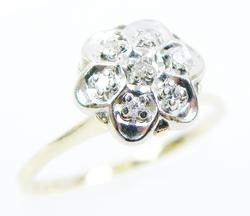Vintage 14K High Mount Flower Ring