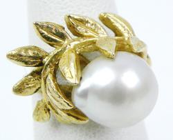 Stunning 14K Baroque Pearl Pinky Ring