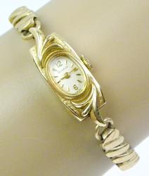Vintage 14K Ladies Bulova Wrist Watch - Runs
