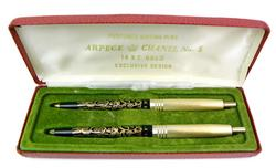 Vintage 14K Filigree Perfumed Writing Pens