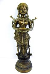 Very Large Vintage Bronze Thai Welcoming Goddess