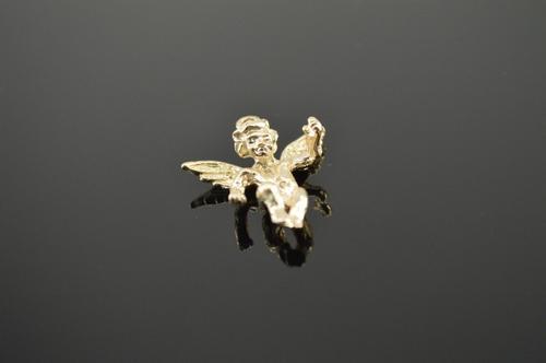 14K Gold 3D Cherub Charm