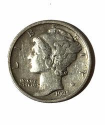 Sharp 1921 Mercury Dime