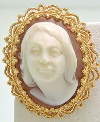 Very High Relief Cameo Brooch