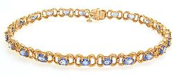 Quality Tanzanite Bracelet in Yellow Gold