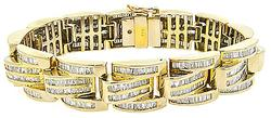 Wide Sparkly Diamond Bracelet, 7.5ctw