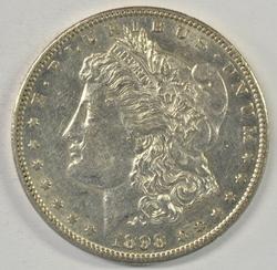 Reflective 1898-S Morgan Silver Dollar in high grade
