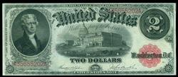 Nearly Gem CU 1917 Series Large Size $2 Note. Nice