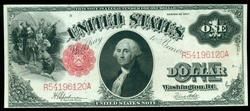 Nearly Gem 1917 Series $1 Large Size Legal Tender Note