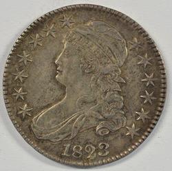 Rare Nearly UNC 1823 Broken '3' Capped Bust Half Dollar