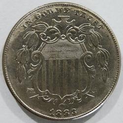 Brilliant Uncirculated 1883 Shield Nickel!