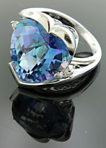 mystic topaz amp diamond heart ring usauctiononlinecom