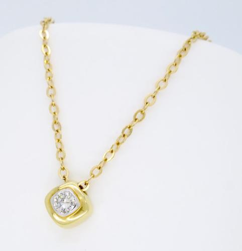 dainty 14k yellow gold diamond necklace. Black Bedroom Furniture Sets. Home Design Ideas