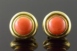 18K Gold Tiffany & Co Coral Paloma Picasso Earrings
