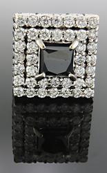 Gents 7 CTW Black & White Diamond Ring