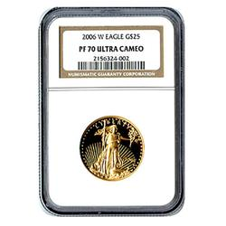 Proof American Gold Eagle $25 2006 PF70 NGC