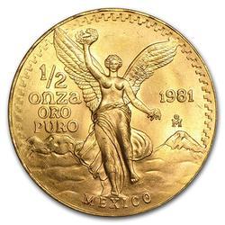 Mexico BU Half Onza Gold (1981)