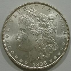 Exceptional BU 1898 P Mint Morgan Silver Dollar!
