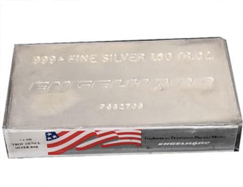 Engelhard Fine Silver Bar 100 ounces