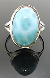 Larimar Oval Vintage Ring