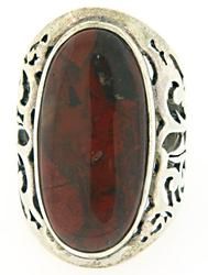 Large Sterling Silver Agate Ring