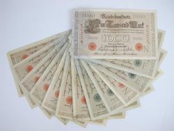 13 1000 Mark Germany 1910 Reichsbank Notes