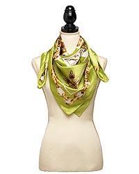 Fancy Silk Sage Color 36x36 in Scarf